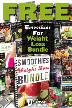 Get your smoothies for weight loss bundle FREE here. Contains over pages to help you immediately lose weight and boost your energy. How To Make Smoothies, Good Smoothies, Fruit Smoothies, Weight Loss Smoothie Recipes, Green Smoothie Recipes, Ginger Smoothie, Best Weight Loss Plan, Diet Plans To Lose Weight, Losing Weight