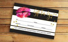 Lipsense Gift Certificate SeneGence by VickyDigital on Etsy