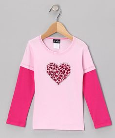 Take a look at this Pink & Fuchsia Heart Layered Tee - Infant & Toddler by A Wish on #zulily today!