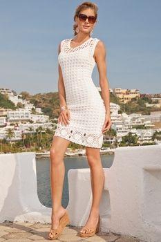Scoopneck crochet dress from Boston Proper on Catalog Spree, my personal digital mall.
