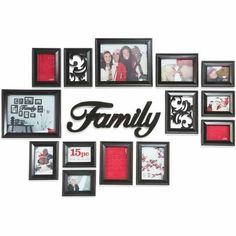 Picture Frame Arrangement @ Pin Your Home Picture Frame Arrangements, Photo Arrangement, Family Pictures On Wall, Family Wall, Family Room, Family Collage, Picture Wall, Picture Frames, Photo Wall
