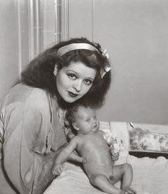Clara Bow & New Born Son - 1938