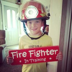 Fire Fighter In Training Plaque Sign Boys Bedroom Decor Firetruck Fireman Rescue Decor. $22.95, via Etsy.