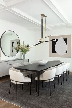 Luxury Dining Room, Dining Room Design, Design Table, Kitchen Design, Simple Dining Table, Fine Dining, Black Dinning Table, White Dining Table Modern, Black Table