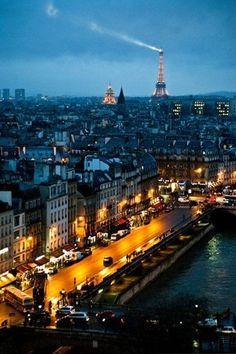 Paris at night! beautiful <3