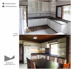 1|2 CASA CB01 - Projeto executado - Arquitetura de Interiores para cozinha em Içara - SC