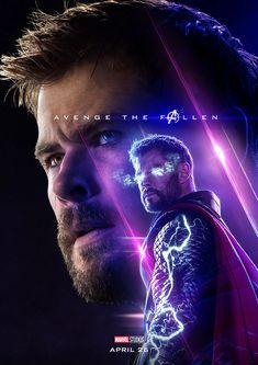 Thor - Endgame ⓒ Majd Khatib Thor Marvel Movie, Marvel Movie Posters, Avengers Poster, Marvel Avengers Assemble, Marvel Heroes, Loki Thor, Loki Laufeyson, Chris Hemsworth Thor, Marvel Background