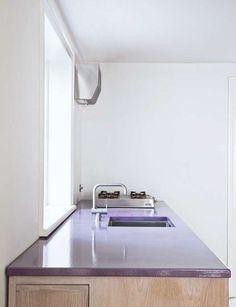 Glazed Lava Stone Counter | Remodelista