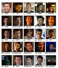 Tenth Doctor faces (casi)