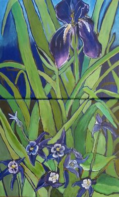 "Columbine and Iris- 10x16"" by SG Criswell"