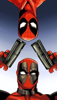 Deadpool and Spiderman. By: MarieKozh.