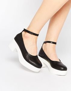 7c504e37c7a Image 1 of Miista Amelia Platform Mid Leather Heeled Shoes Leather Heels