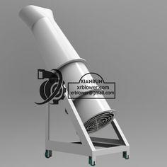 Axial Flow Fan, Industrial Fan, Long Pipe, Cement, Cool Stuff