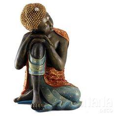 buda grande descansando - decorado con piedras - hermoso! Zen, Buddha Sculpture, Wooden Statues, Gautama Buddha, Buddha Art, Meditation Space, Black Women Art, Clay Dolls, Black History