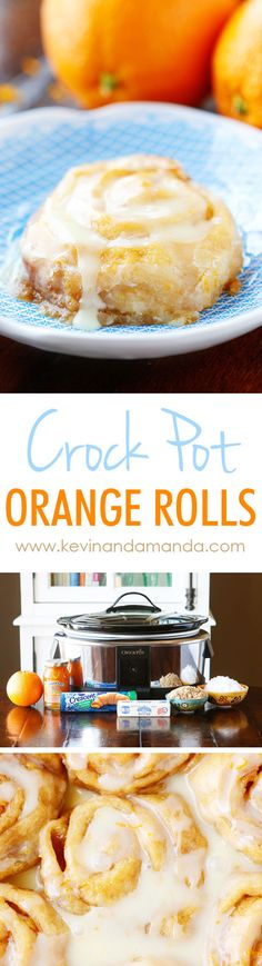 These Orange Sweet Rolls are an amazing crockpot recipe! They turn out ULTRA soft and gooey! Plus you can keep them warm in the slow cooker so they always taste fresh out of the oven! I think this might be our Christmas morning breakfast! Crock Pot Slow Cooker, Slow Cooker Recipes, Crockpot Recipes, Cooking Recipes, Crock Pot Bread, Slow Cooker Desserts, Crock Pots, Breakfast And Brunch, Best Breakfast