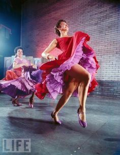 Love the color and motion in this shot from Life - a feature on West Side Story on Broadway.