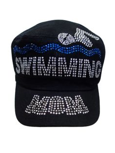 Swim Mom Rhinestone hat