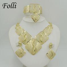 Fashion Big African Beads Jewelry Set Exquisite Carved Dubai Gold Plated Jewelry Set 14K Nigerian Wedding Bridal Bijoux