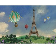 Interior Place - Eiffel Tower and Balloons Art on Canvas Home Accent FFM10508AC, $107.99 (http://www.interiorplace.com/eiffel-tower-and-balloons-art-on-canvas-home-accent-ffm10508ac/)