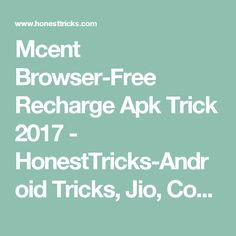 Working Mcent Unlimited Free Recharge Hack Trick December 2017
