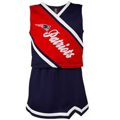 New England Patriots Toddler Girls Two-Piece Sleeveless Cheerleader Set -  Navy Blue Red 21e055093