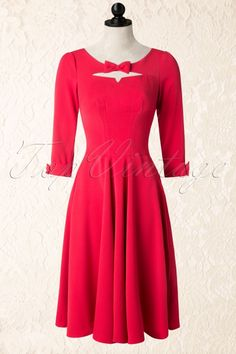 Miss Candyfloss Red Swing Dress with Bow102 20 16251 20151016 501W
