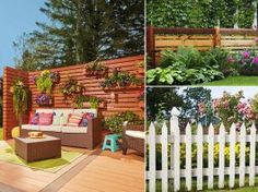 Here are the diversified and distinctive Privacy Fence Ideas for Backyard that are affordable and serves the purpose! Diy Backyard Fence, Sloped Backyard, Small Backyard Pools, Backyard Landscaping, Garden Privacy Screen, Diy Privacy Fence, Outdoor Privacy, Garden Web, Garden Design