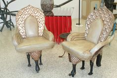 love these whimsical bird chairs
