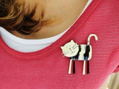 Cat pins brooch, cat accessories, kitty cat jewelry, best friend birthday gift, unique accessories, animal brooches, cute children brooch on Etsy, $14.00