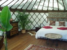 The Hoopoe Yurt Hotel safari yurt interior: love this for a beach house