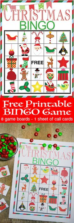 Free Printable BINGO game cards. This is everything you need to start the tradition of playing games together for the holidays.