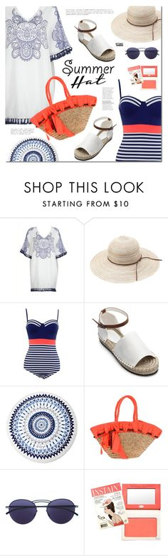 """""""Get the Look: Swimsuit Edition"""" by mada-malureanu ❤ liked on Polyvore featuring The Beach People, Connie, Mykita, GetTheLook and Swimsuits"""
