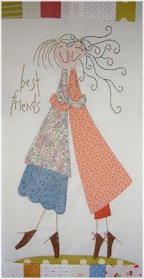 Sabines Stübchen: Anni Downs... Applique Patterns, Applique Quilts, Applique Designs, Embroidery Applique, Embroidery Stitches, Quilt Patterns, Machine Embroidery, Embroidery Designs, Small Quilts