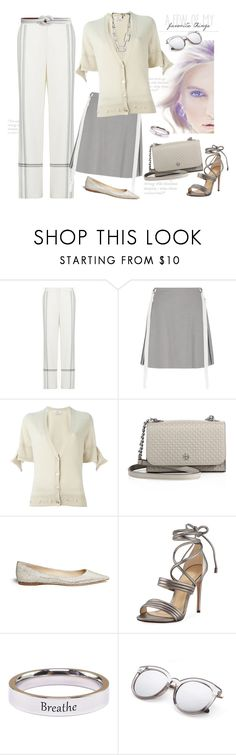 """""""Favorite Things"""" by ysmn-pan ❤ liked on Polyvore featuring BCBGMAXAZRIA, Adeam, Barrie, Tory Burch, Jimmy Choo, Alexandre Birman, Hermès and Pink Box"""