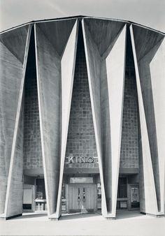 Cinema (ca. 1966) in Kongsberg, Norway, by Ørnulf Ljøterud & Erik Ødegård