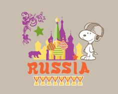 Snoopy is in Russia