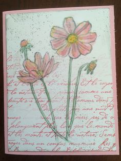 Love this set! I used the blender pen and ink to color. Helping Me Grow, French Script,  Itty Bitty Backgrounds.  Gray, pink, yellow, green. All Stampin' Up!