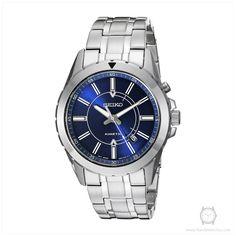 Seiko Men's SKA703 RECRAFT Kinetic Analog Display Japanese Quartz Silver Watch