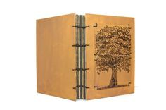 Oak Tree Original Pen and Ink Coptic Journal by Thenibandquill, $50.00