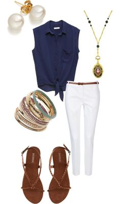 """""""Easy Summer"""" by brittany-schmidt ❤ liked on Polyvore"""
