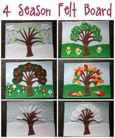 4 Seasons Felt Board Craft by CraftsbyAmanda.com @amandaformaro