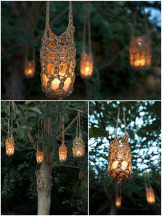 Rustic hangers for wedding decoration. $7.00, via Etsy.