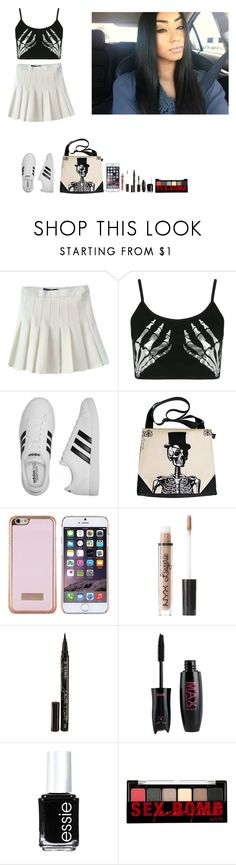 """""""-Krissy"""" by krissyk-15 on Polyvore featuring Boohoo, adidas, Ted Baker, Charlotte Russe, Smith & Cult, Essie and NYX"""