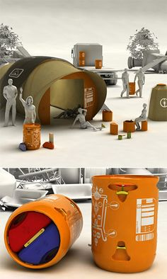The Bedu Emergency Rapid Response Kit is a keg-sized drum full of durable life-saving gear. It's built to support eight adults for up to five years and it includes a water-filtration system, medicine and tool kits, a multi-fuel stove, a radio and a hand-crank generator with a photovoltaic battery pack and a strip-cell blanket. Not only that, but the skeleton of the barrel can be used to create a shelter.  Survival Gear That's Just Crazy Enough to Work