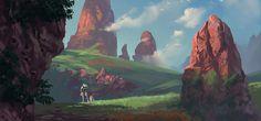landscape, Andrei Kotnev on ArtStation at https://www.artstation.com/artwork/4y54L