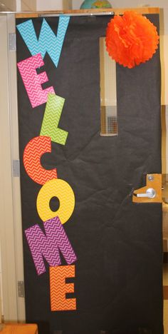 The easiest back to school door ever!!