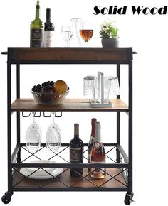 100  Farmhouse Bar Carts and Rustic Kitchen Carts for your Farmhouse Style Kitchen. We absolutely love farmhouse kitchen island carts and rustic bar carts because they are beautiful and functional. Farmhouse Bar Carts, Farmhouse Kitchen Island, Rustic Kitchen, Wooden Kitchen, Kitchen Islands, Kitchen Dining, Kitchen Decor, Solid Wood Kitchens, Brown Kitchens
