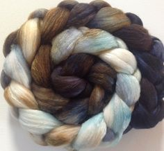 Hand Dyed roving for spinning or felting 3.15ozs by FiberArtemis