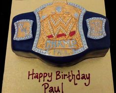 wwe cakes   WWE Wrestling Belt Cake   Flickr - Photo Sharing!