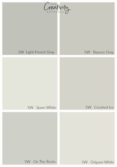 Comparing Sherwin Williams Light French Gray to other popular colors. Crushed Ice our Origami White for the foyer?